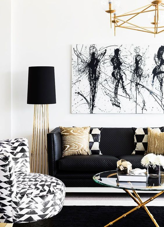 Black And White Living Room Ideas: 50 Modern Living Room Ideas And Designs