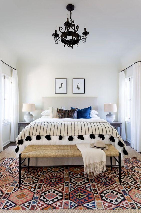 elegant boho chic bedroom