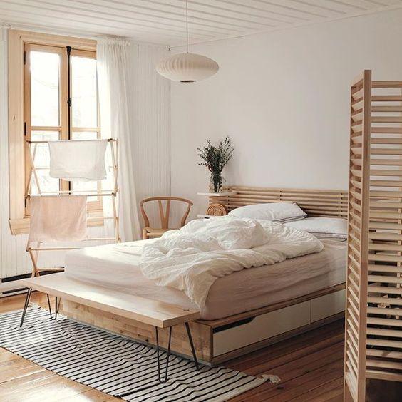 rustic minimalist bedroom