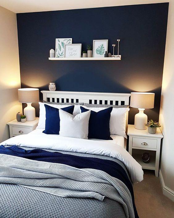 beautiful blue bedroom