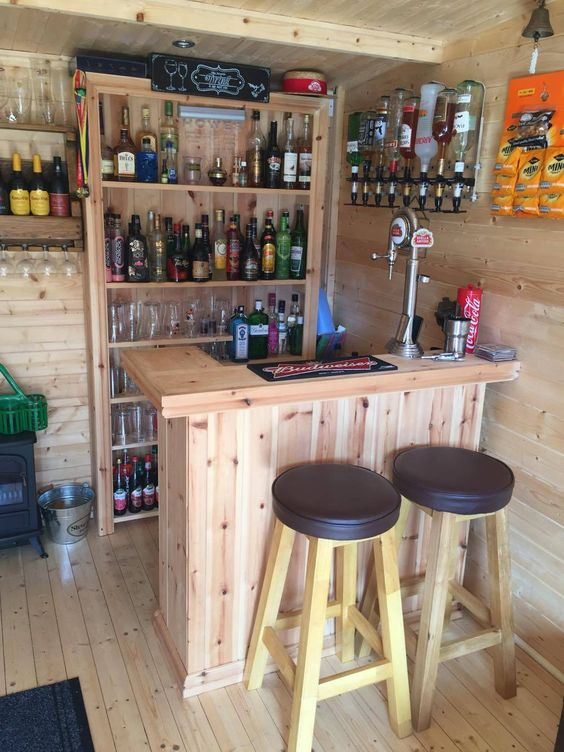 pallet backyard bar