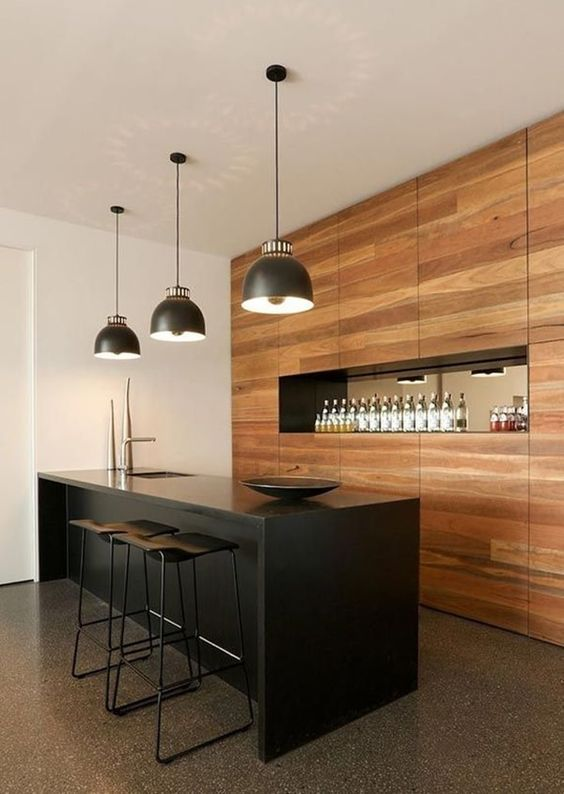 modern minimalist home bar