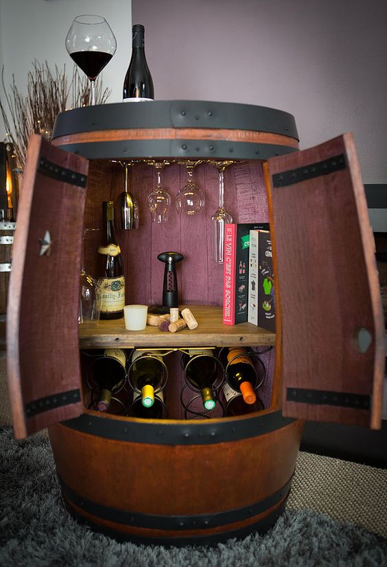 barrel mini bar
