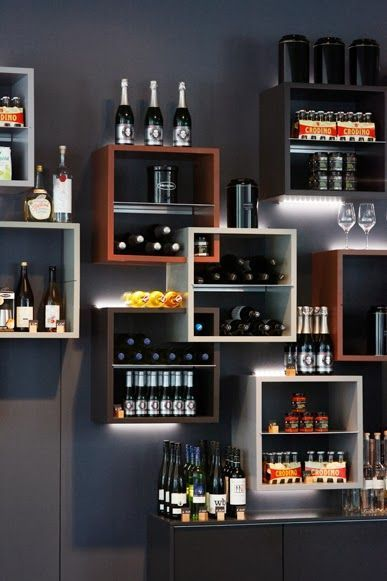 modern wall bar