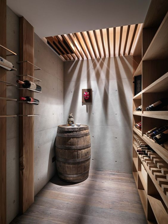 cellar home bar