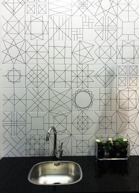 modern white tiles