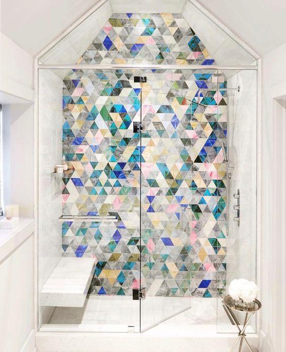 colourful bathroom wall