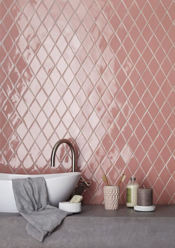 pink diamond tiles