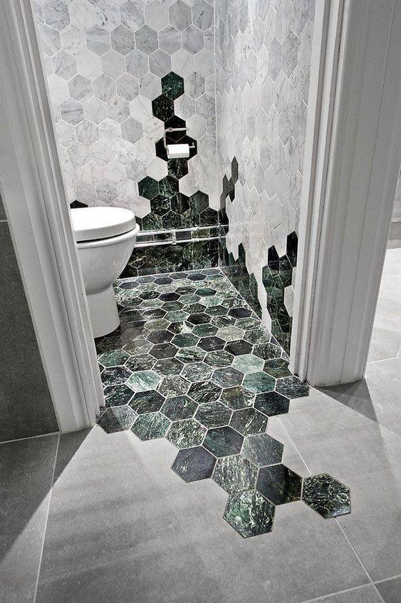 mixed hexagon tiles