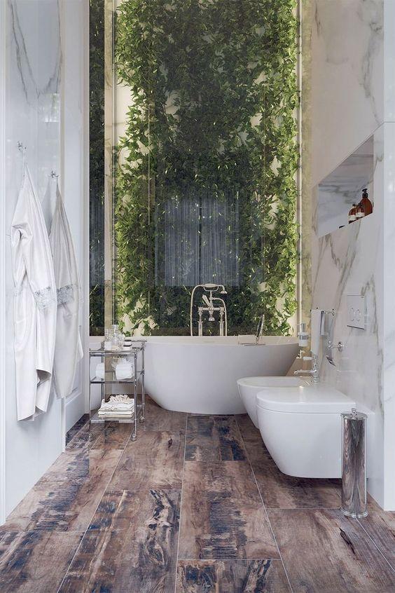 rustic luxurious bathroom