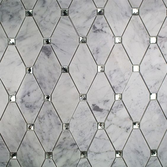 marble and glass tile