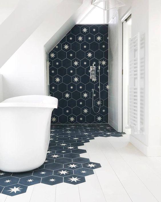 modern hexagon tiles