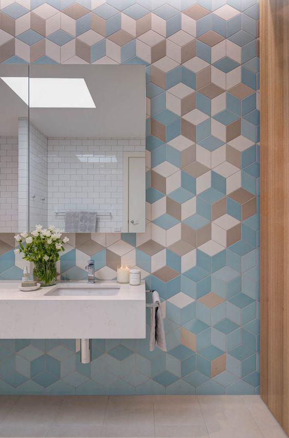 modern pastel bathroom tiles