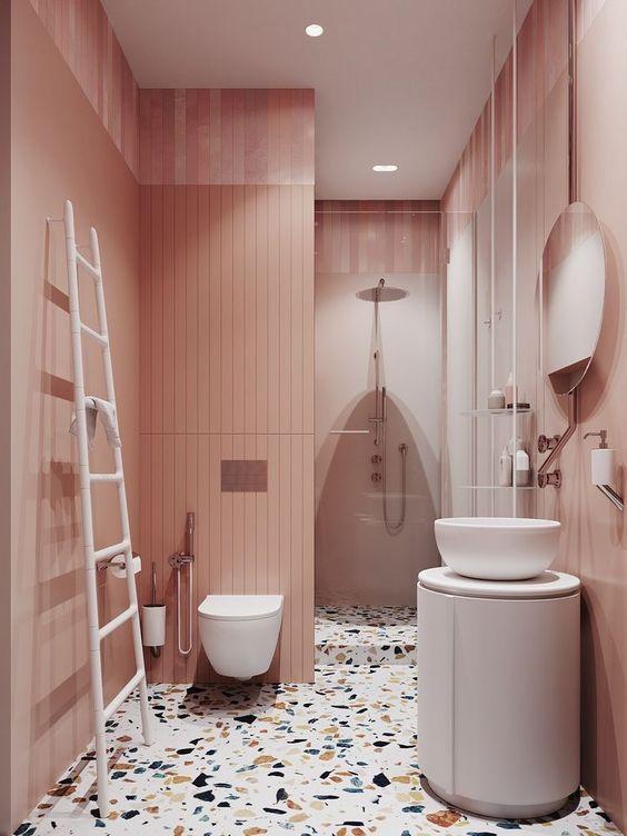 modern pink bathroom