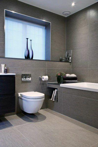 modern grey bathroom
