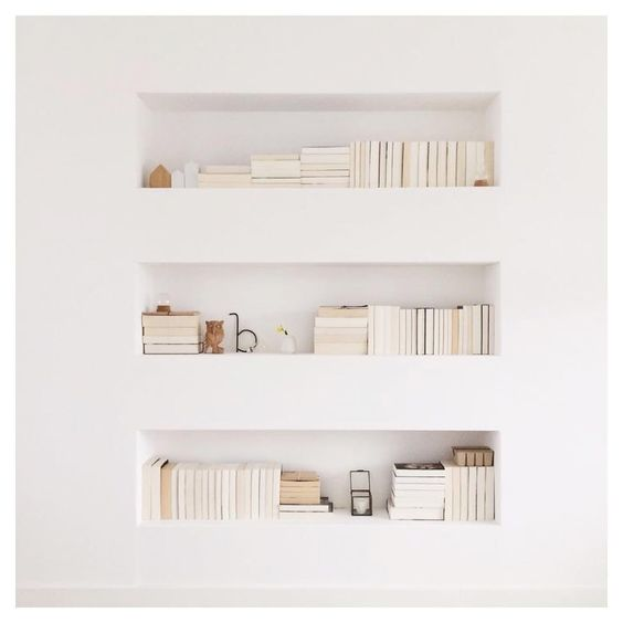minimalist shelves