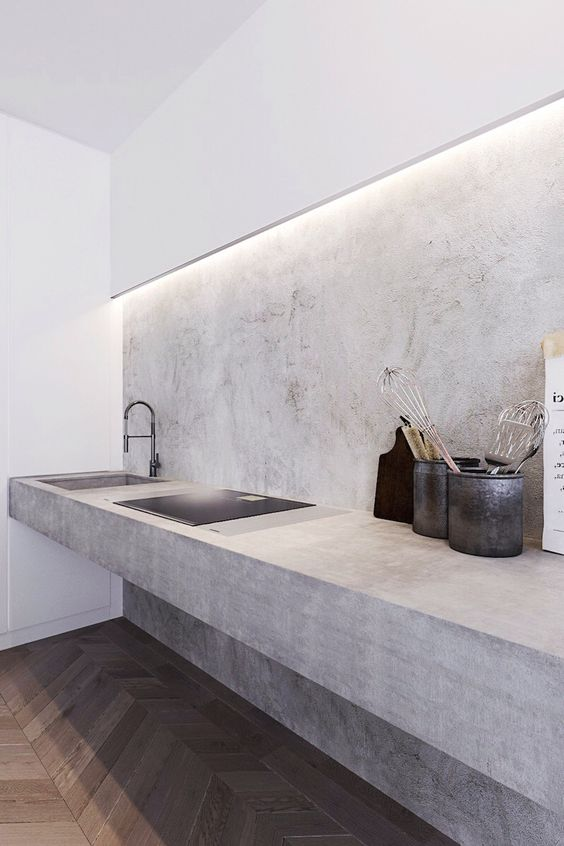 modern concrete kitchen