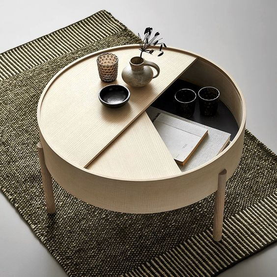 round centre table with storage