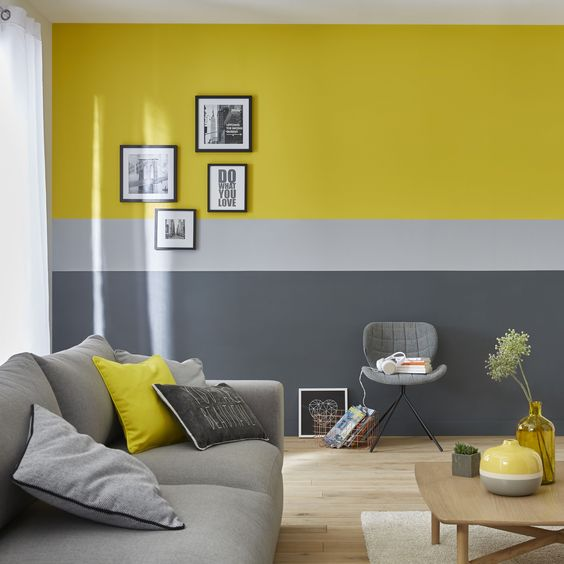 45 Creative Wall Paint Ideas And, Wall Painting Designs For Living Room