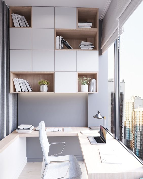 modern balcony home office