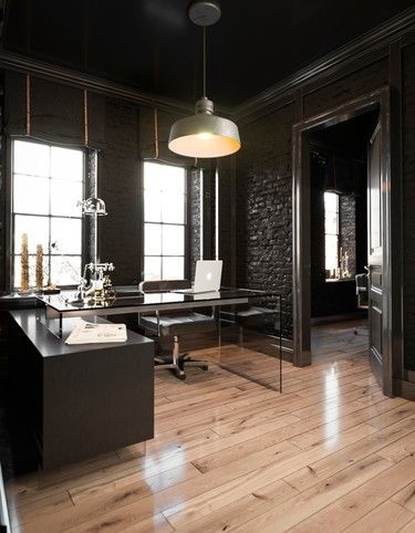 dark industrial home office