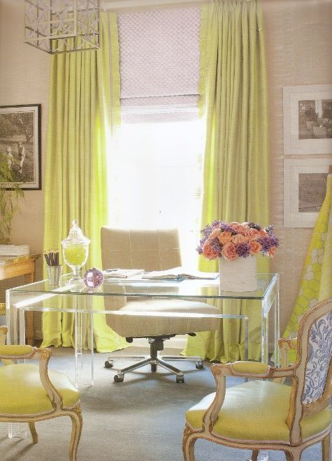 charming yellow home office