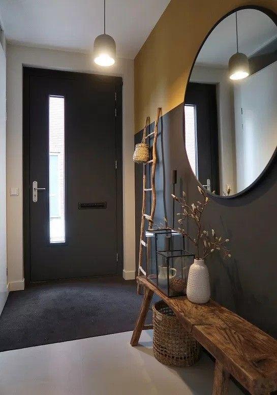 modern grey foyer