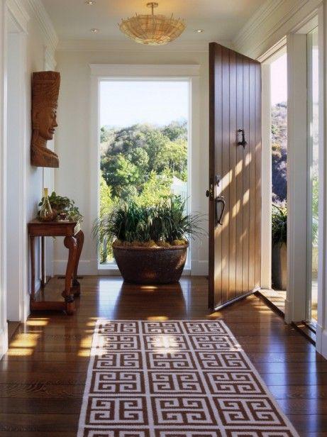 suburban home foyer