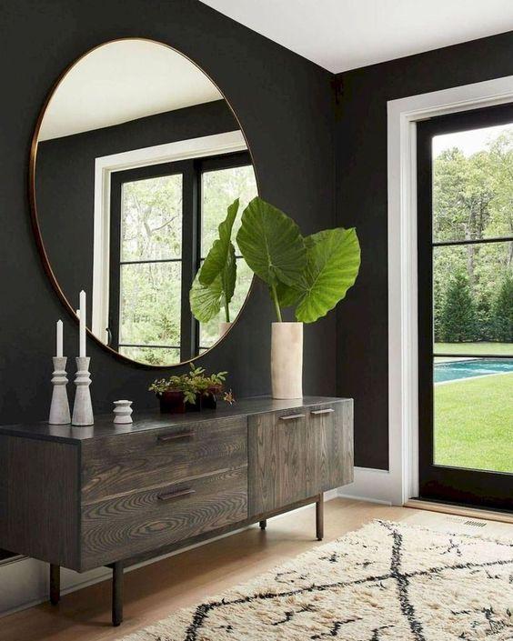 dark modern foyer
