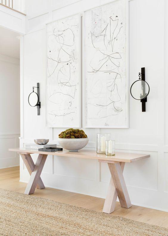 white minimalist foyer
