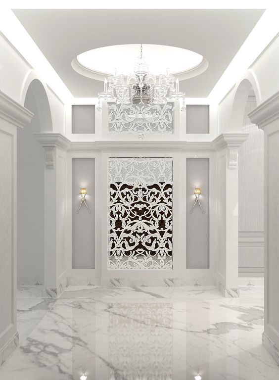 white marble foyer