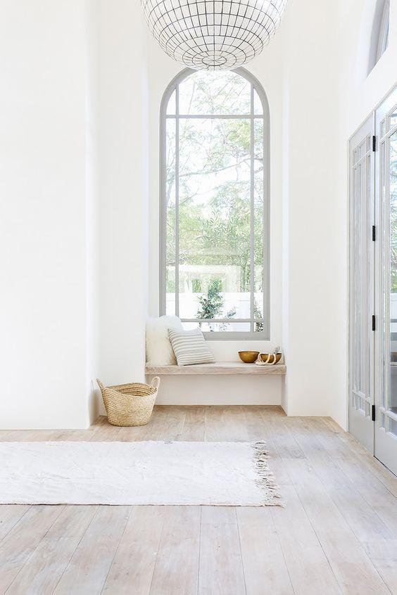 elegant white foyer
