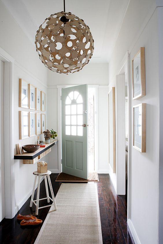 narrow cosy foyer