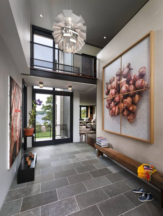 impressive modern foyer