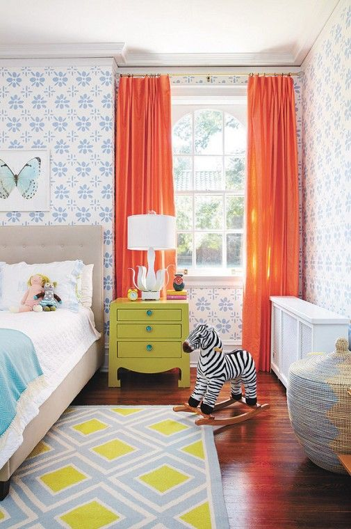 vintage childs bedroom