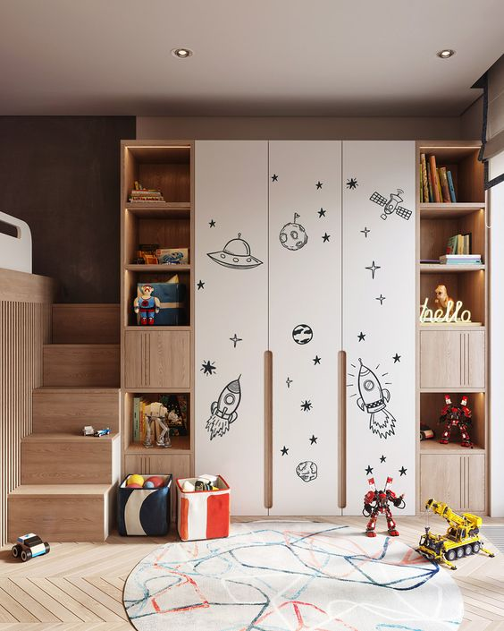 kids bedroom closet