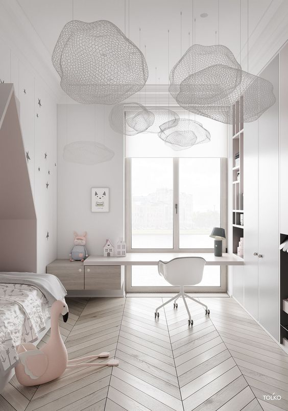 modern kids bedroom