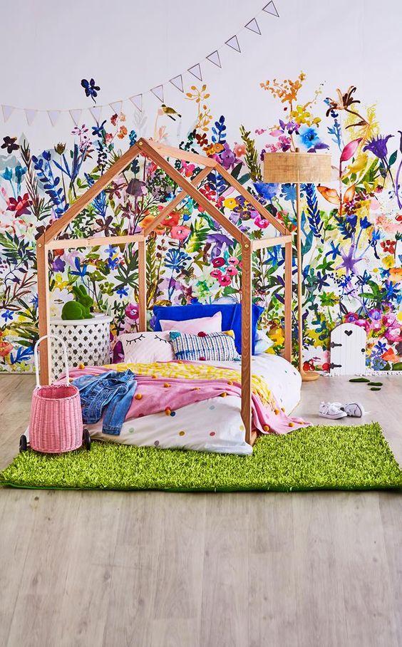 garden themed bedroom