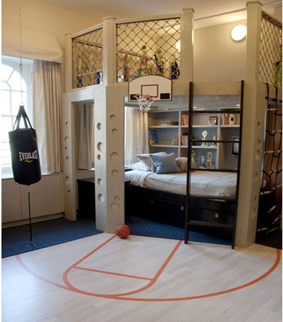 sporty kids bedroom