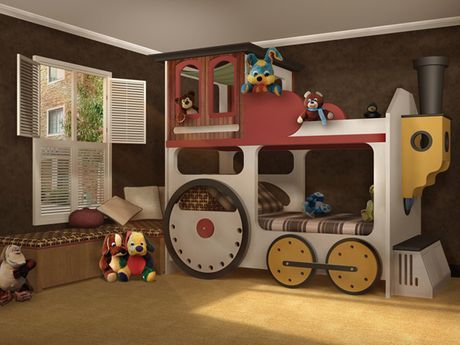 train kids bedroom