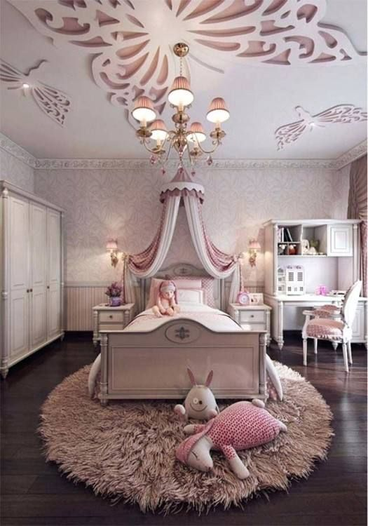 glam princess girls bedroom