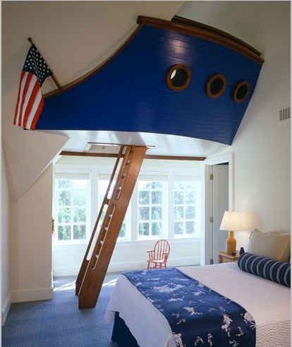 boat inspired kids bedroom