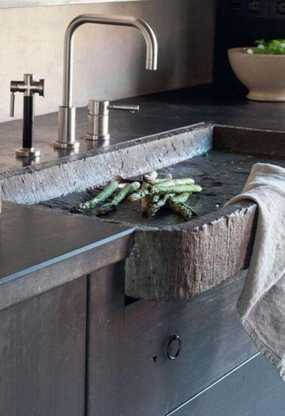 rough rock kitchen sink