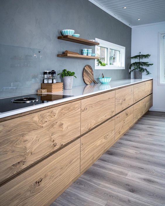 rustic minimalist kitchen