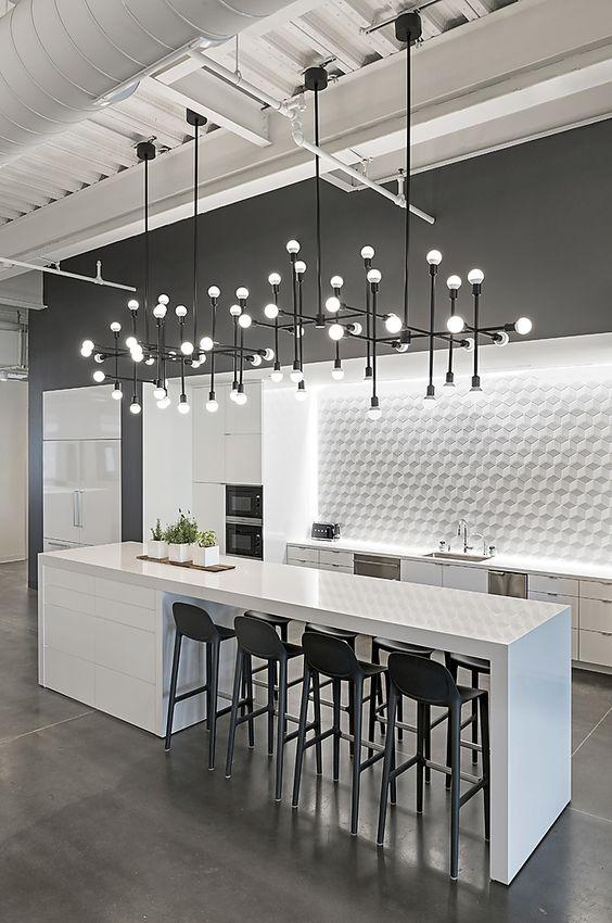 bright industrial kitchen