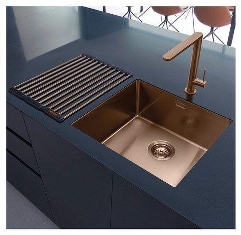 modern copper kitchen sink