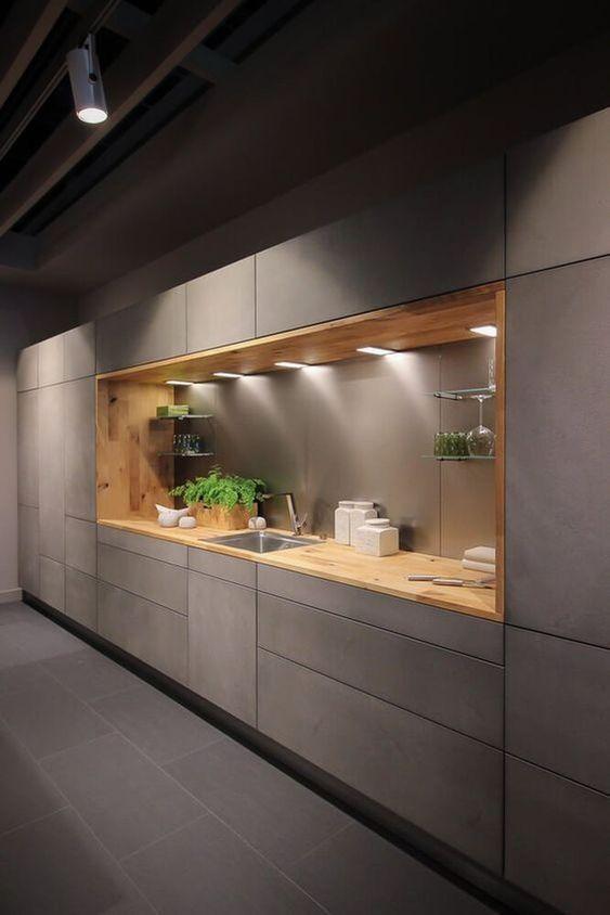 modern alcove kitchen