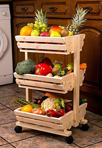 kitchen produce rack