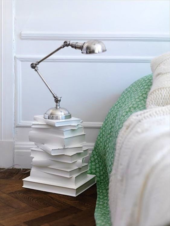 old books nightstand