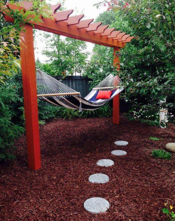 hammock and pergola